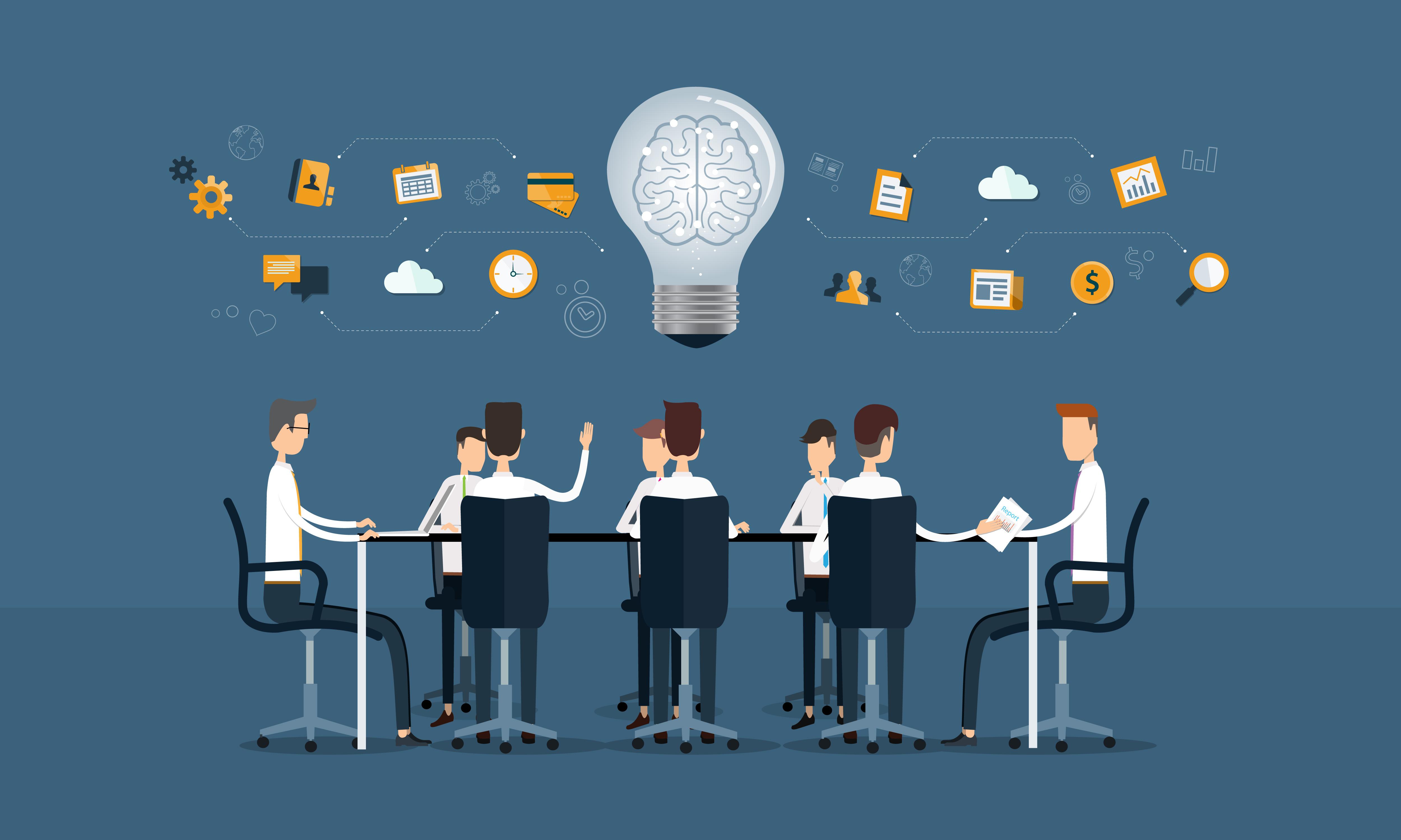 vector business teamwork meeting and brainstorm riskinsight